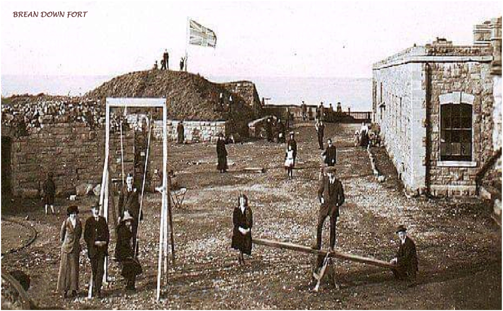 Brean Down Fort, early 1900s