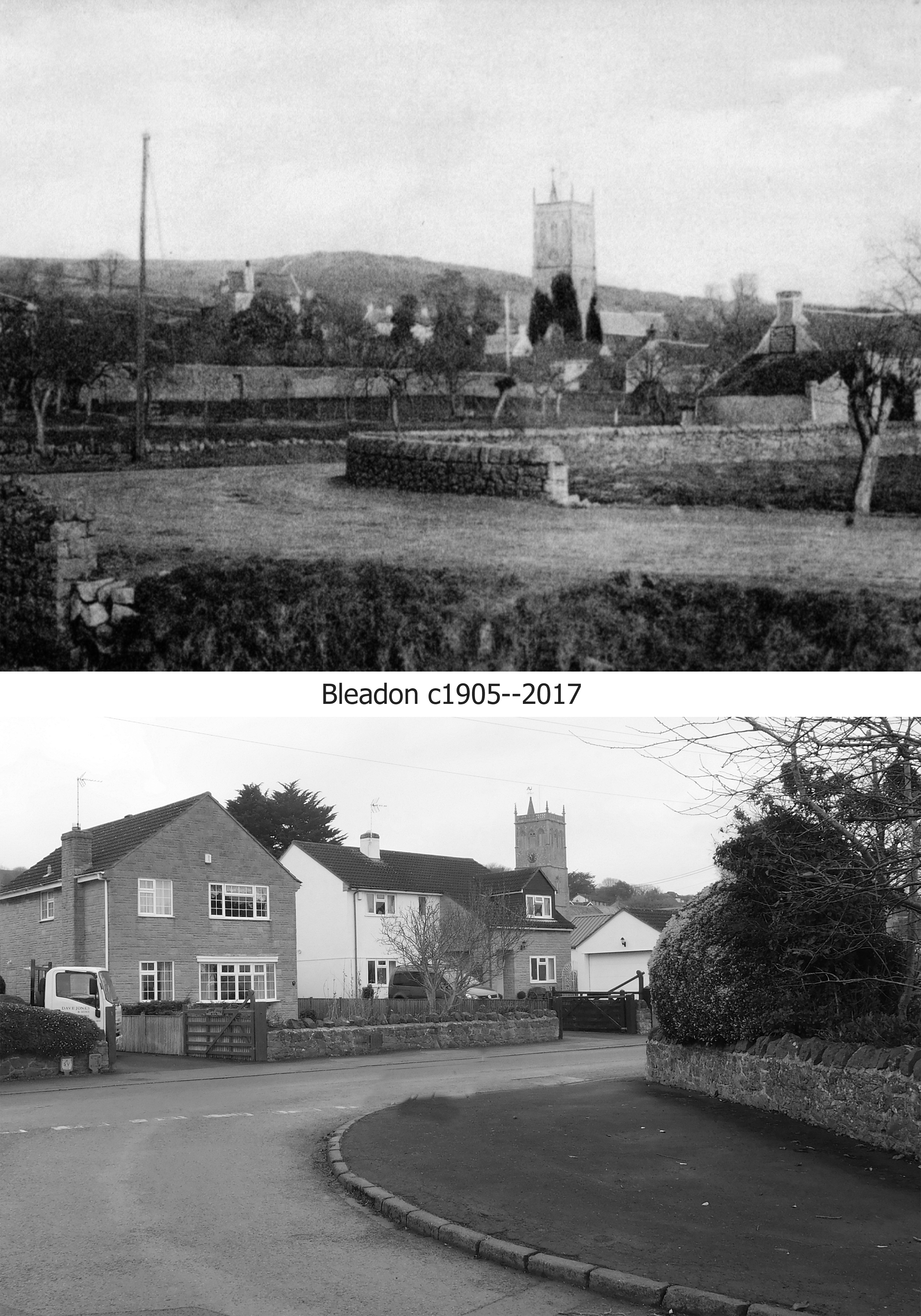 Corner of Bleadon rd. & Bridge rd. c1905-2017